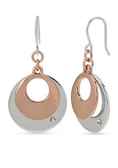 Kenneth Cole Two-Tone Layered Disc Drop Earrings