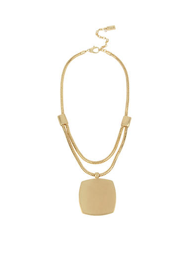 Kenneth Cole Gold-Tone Large Geometric Square Pendant Necklace