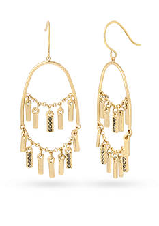 Kenneth Cole Pave Shaky Stick Chandelier Earrings