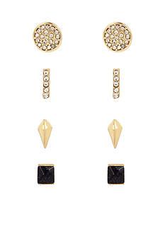 Kenneth Cole Tri-Tone Blue Sand Stone Stud Boxed Earrings Set