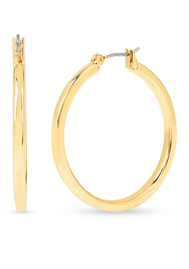 Kenneth Cole Medium Gold Hoop Earring