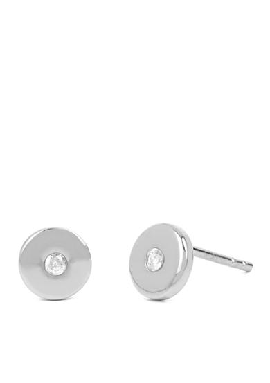 Kenneth Cole Silver-Tone Crystal Circle Stud Earrings