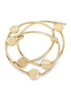 Kenneth Cole Gold-Tone Circle Stretch Bracelet Set