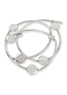 Kenneth Cole Silver-Tone Circle Stretch Bracelet Set