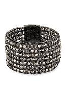 Kenneth Cole Hematite-Tone Woven Faceted Bead