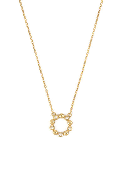 Kenneth Cole Gold-Tone Sterling Silver Diamond Circle Pendant Necklace
