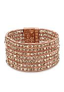 Kenneth Cole Rose Gold-Tone Woven Faceted Bead