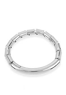 Kenneth Cole Silver-Tone Bar Magnetic Bracelet