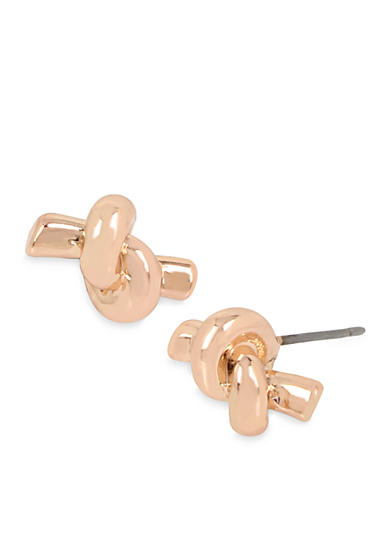 Kenneth Cole Rose Gold-Tone Knotted Stud Earrings