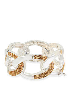 Kenneth Cole Two-Tone Chain Link Stretch Bracelet