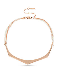 Kenneth Cole Rose Gold-Tone Geometric Bar Collar Necklace