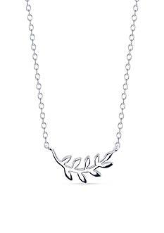 Belk Silverworks Sterling Silver Leaves Station Necklace
