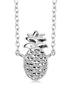 Belk Silverworks Pineapple Pendant Necklace
