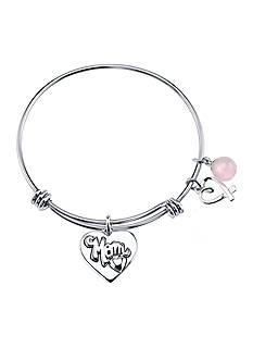 Belk Silverworks Life's Moments Mom Bangle Bracelet