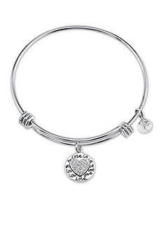 Belk Silverworks Stainless Steel 'My Greatest Blessings Call Me Grandma' Crystal Bead Bracelet