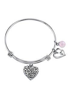 Belk Silverworks Stainless Steel Mother Daughter Friends Rose Quartz Bead Bracelet