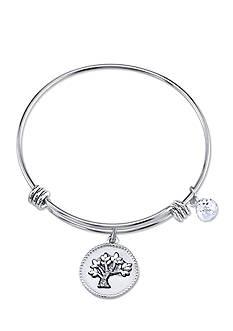 Belk Silverworks Silver-Tone My Family My Love Charm Bracelet