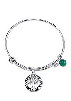 Belk Silverworks Stainless Steel Family Tree Bangle Bracelet