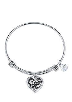 Belk Silverworks Stainless Steel Grandma You Are Loved Bangle Bracelet