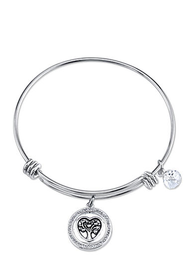 Belk Silverworks Stainless Steel Mom You Are the Heart of Our Family Bangle Bracelet