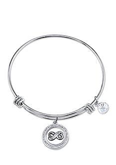 Belk Silverworks Stainless Steel Best Friends Forever Bangle Bracelet