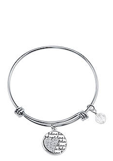 Belk Silverworks Life's Moments Follow Your Heart Bangle Bracelet