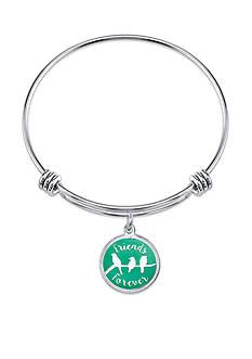 Belk Silverworks Stainless Steel Friends Forever Bangle Bracelet