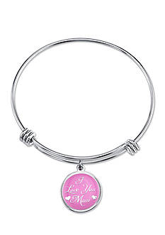 Belk Silverworks Stainless Steel I Love You Mom Bangle Bracelet