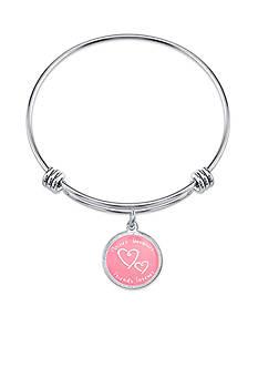 Belk Silverworks Stainless Steel Mother Daughter Friends Forever Bangle Bracelet