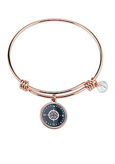 Belk Silverworks Rose Gold-Tone Compass Bangle Bracelet