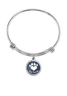 Belk Silverworks Silver-Tone Best Friends Charm Bangle Bracelet
