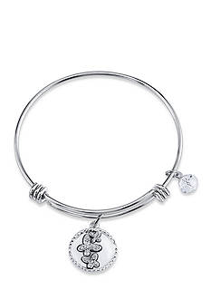 Belk Silverworks Silver-Tone Mother and Daughter Butterfly Charm Bracelet