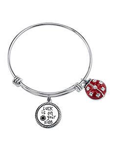 Belk Silverworks Stainless Steel Ladybug Bangle Bracelet