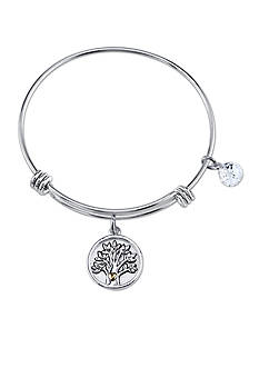 Belk Silverworks Two-Tone Family Tree Bangle Bracelet