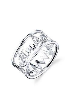 Belk Silverworks Stainless Steel Family Heart Beat Ring