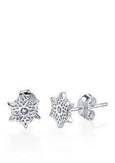 Belk Silverworks Sterling Silver Snowflake Earrings