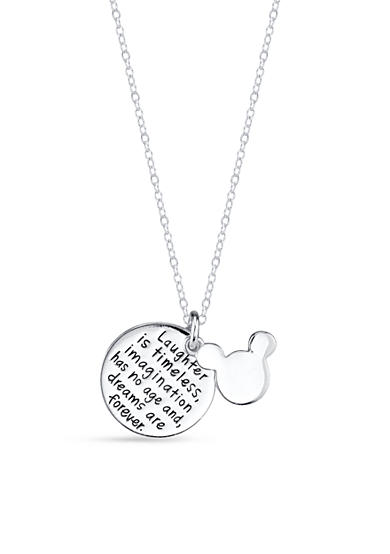 Belk Silverworks Sterling Silver Two Piece Disney® Laughter is Timeless Mickey Necklace
