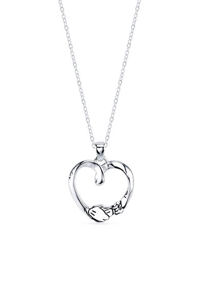 Belk Silverworks Sterling Silver Disney 'I'm Just Minnie Looking for Her Mickey' Open Heart Necklace
