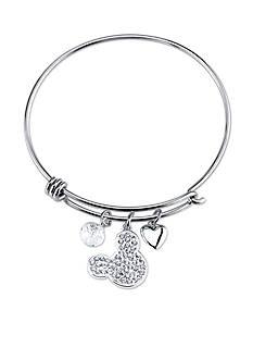 Belk Silverworks Stainless Steel I Love Mickey Bangle Bracelet