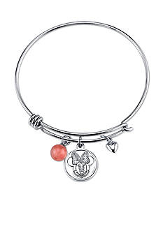 Belk Silverworks Stainless Steel Minnie Mouse Love and Kisses Bangle Bracelet