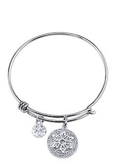 Belk Silverworks Stainless Steel Disney Let It Go Bangle Bracelet