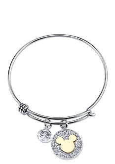 Belk Silverworks Stainless Steel Disney Two-Tone Never Stop Dreaming Bangle Bracelet