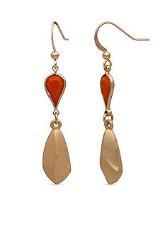 New Directions Gold-Tone Tropical Oasis Teardrop Earrings