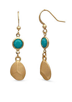 New Directions Gold-Tone Tropical Oasis Double Drop Earrings