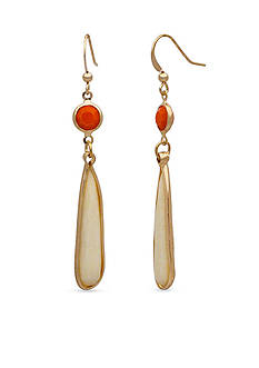 New Directions Gold-Tone Tropical Oasis Linear Earrings