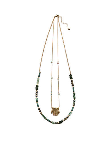 New Directions® Gold-Tone Jade Beaded Necklace