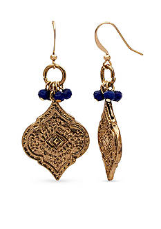New Directions® Gold-Tone Bead Fusion Drop Earrings