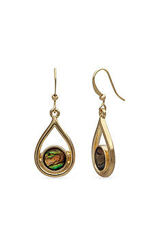 New Directions® Gold-Tone Abalone Drop Earrings