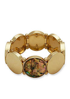 New Directions® Gold-Tone Abalone Stretch Bracelet