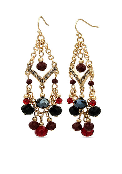 New Directions® Gold-Tone Romance Beaded Chandelier Earrings
